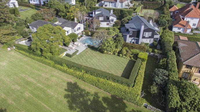 Private, park-like grounds on the edge of Waiata